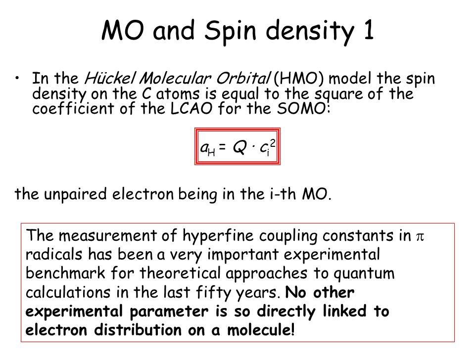 MO and Spin density 1