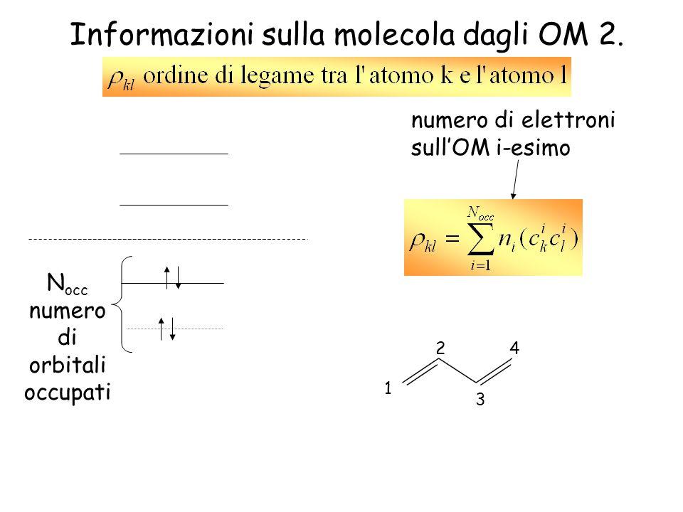 Informazioni sulla molecola dagli OM 2.