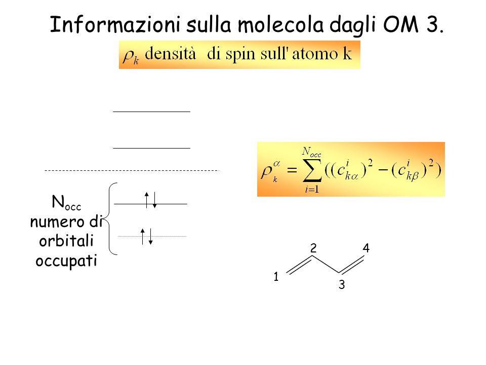 Informazioni sulla molecola dagli OM 3.