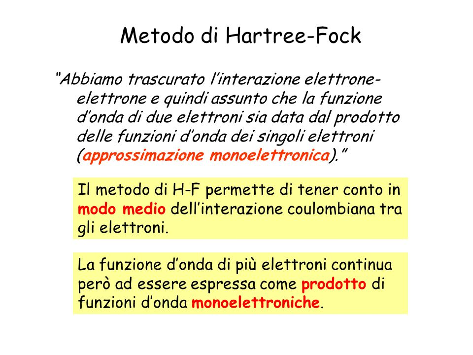 Metodo di Hartree-Fock
