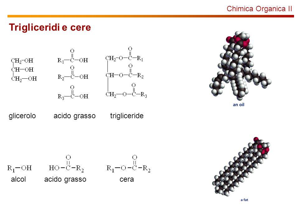 Trigliceridi e cere Chimica Organica II glicerolo acido grasso