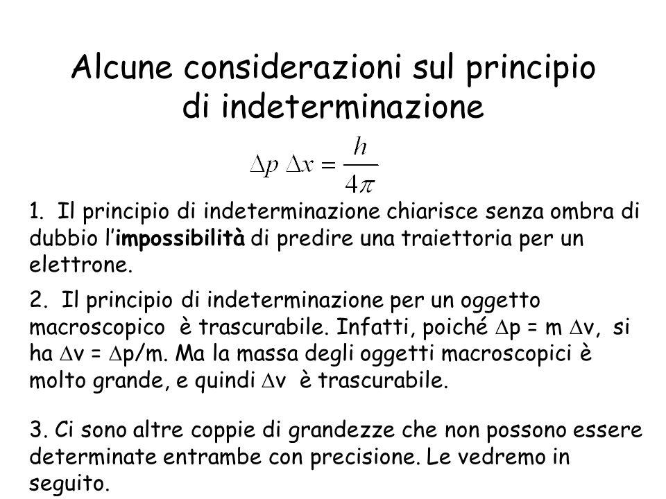 Alcune considerazioni sul principio di indeterminazione