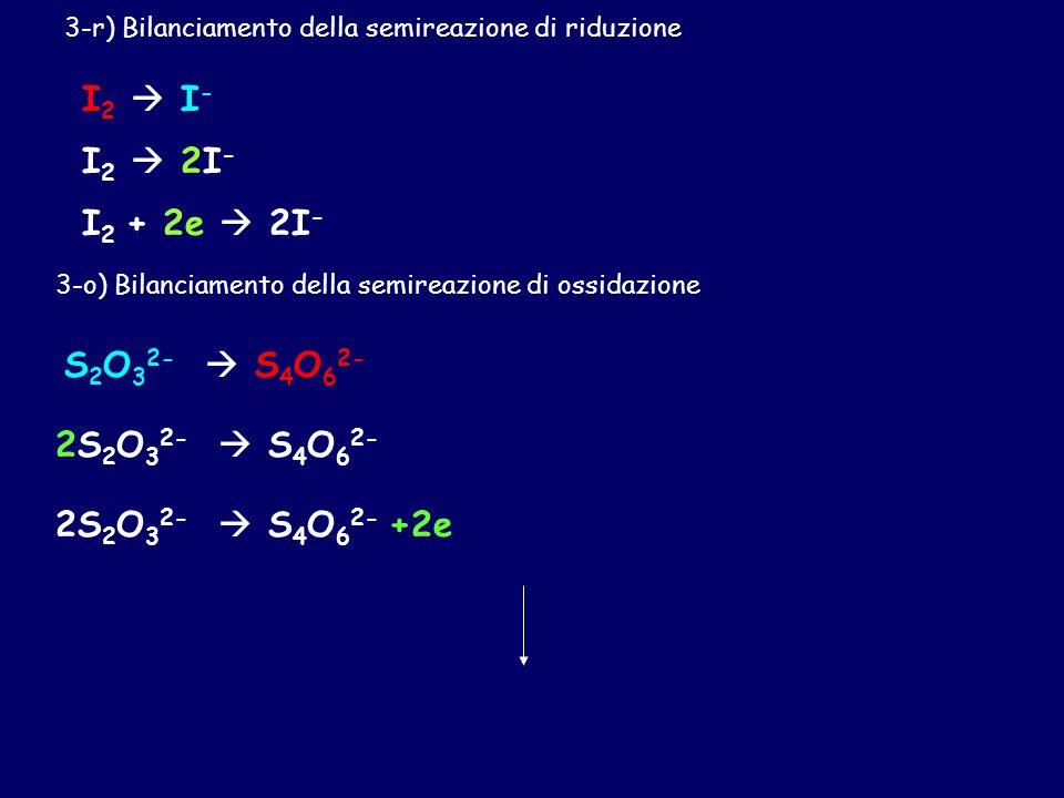 I2  I- I2  2I- I2 + 2e  2I- S2O32-  S4O62- 2S2O32-  S4O62-