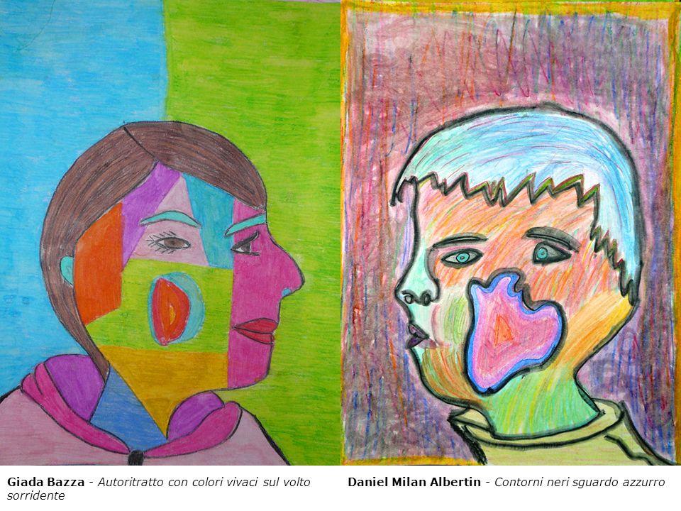 Giada Bazza - Autoritratto con colori vivaci sul volto