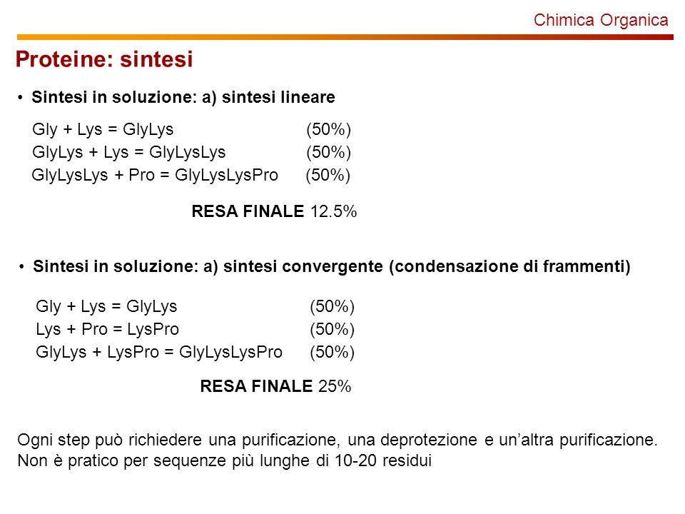 Proteine: sintesi Chimica Organica