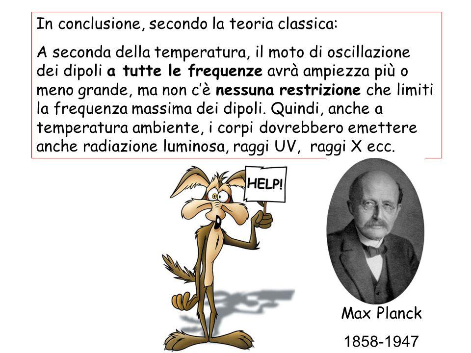 In conclusione, secondo la teoria classica: