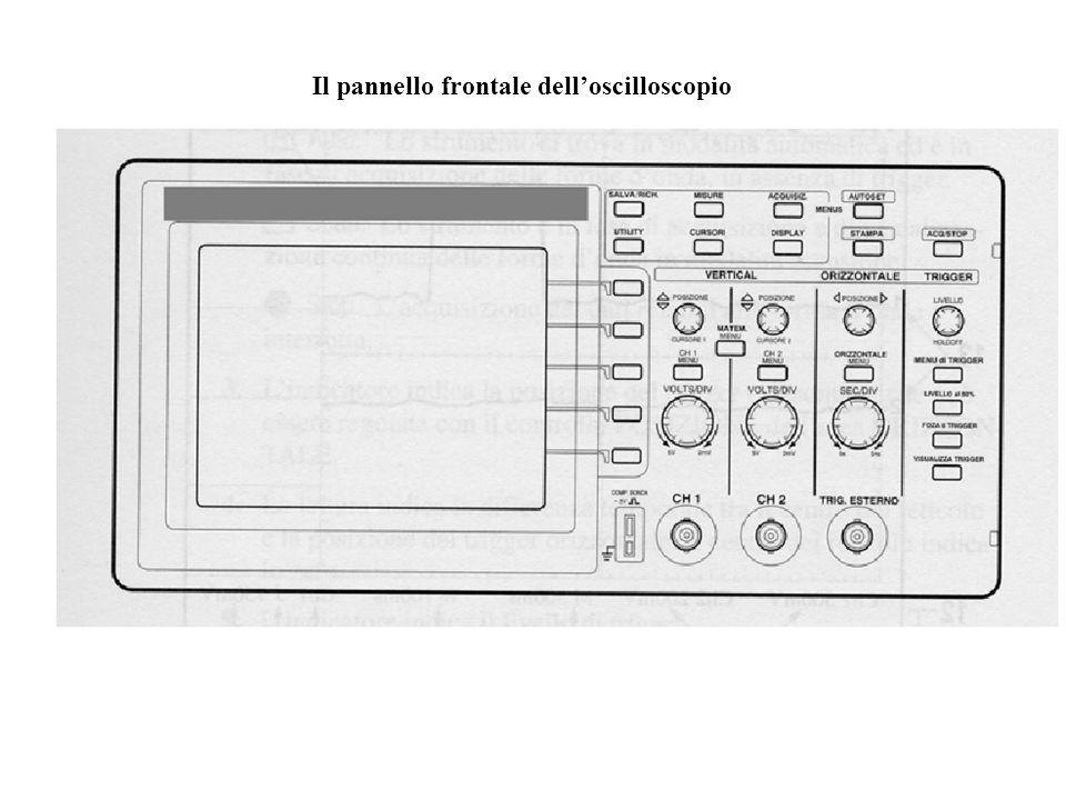 Il pannello frontale dell'oscilloscopio