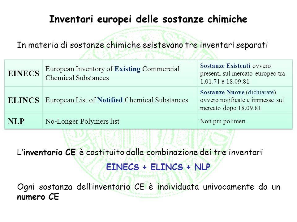 Inventari europei delle sostanze chimiche