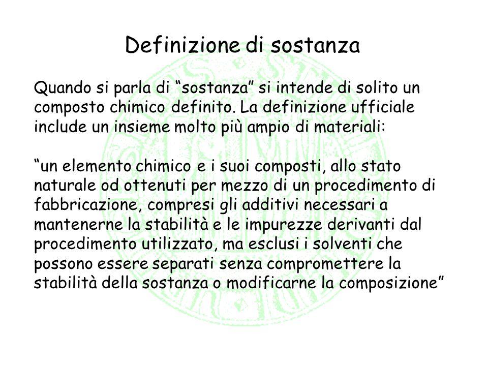 Definizione di sostanza