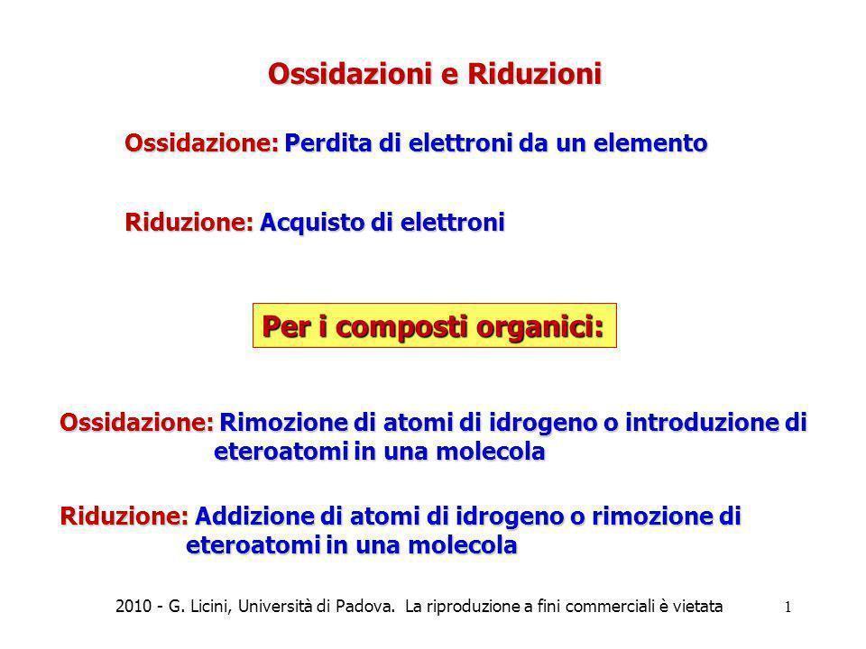 Ossidazioni e Riduzioni