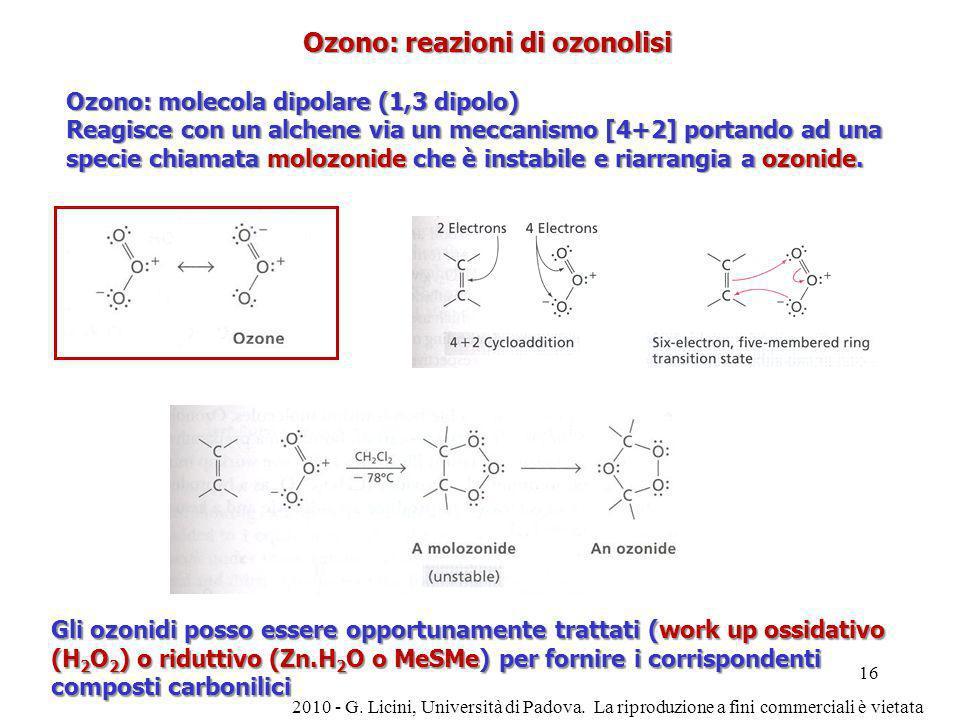 Ozono: reazioni di ozonolisi