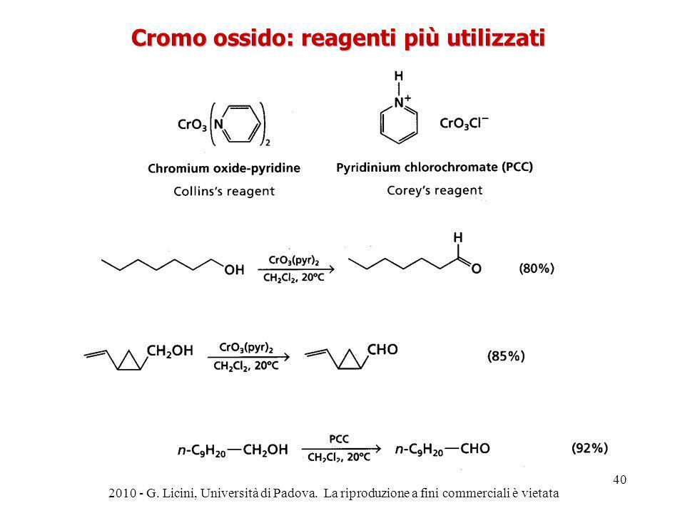 Cromo ossido: reagenti più utilizzati