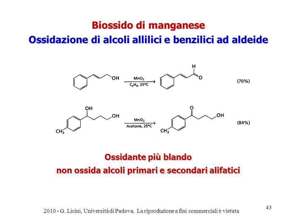 Ossidazione di alcoli allilici e benzilici ad aldeide
