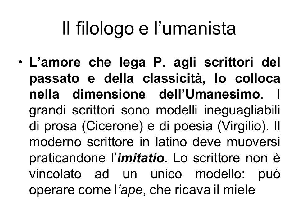 Il filologo e l'umanista