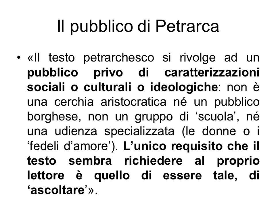 Il pubblico di Petrarca