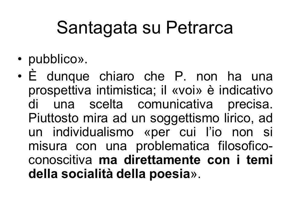 Santagata su Petrarca pubblico».