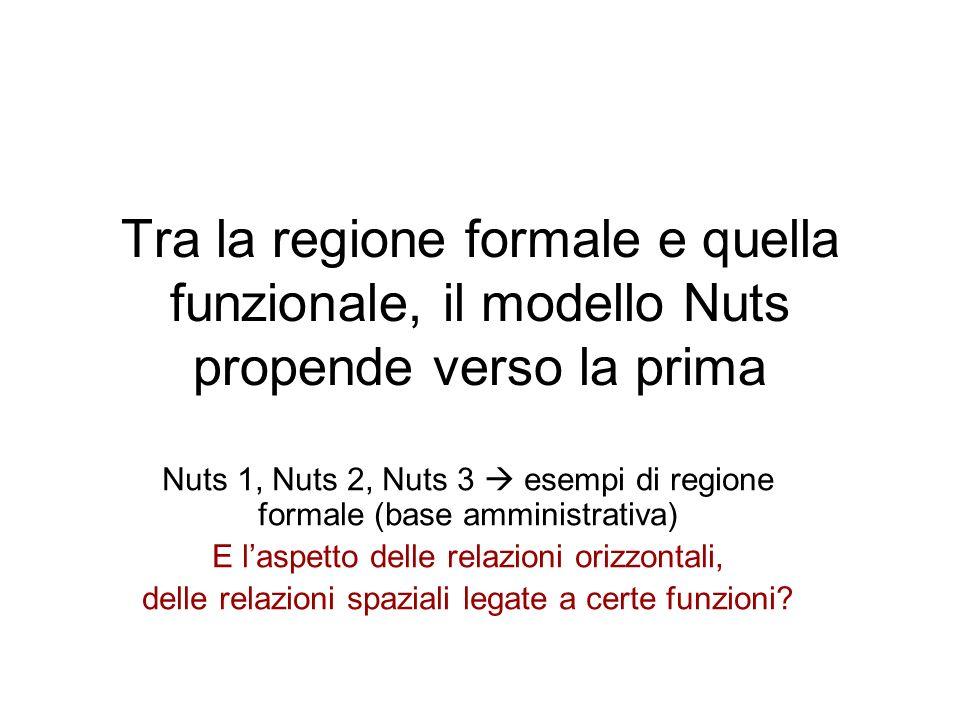 Tra la regione formale e quella funzionale, il modello Nuts propende verso la prima