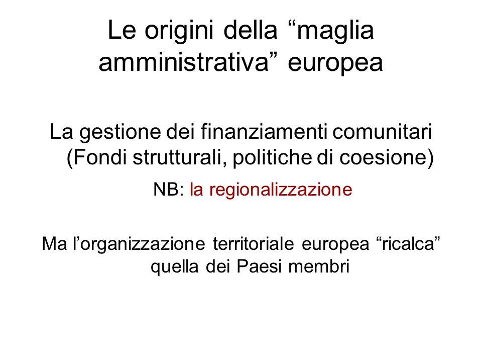 Le origini della maglia amministrativa europea