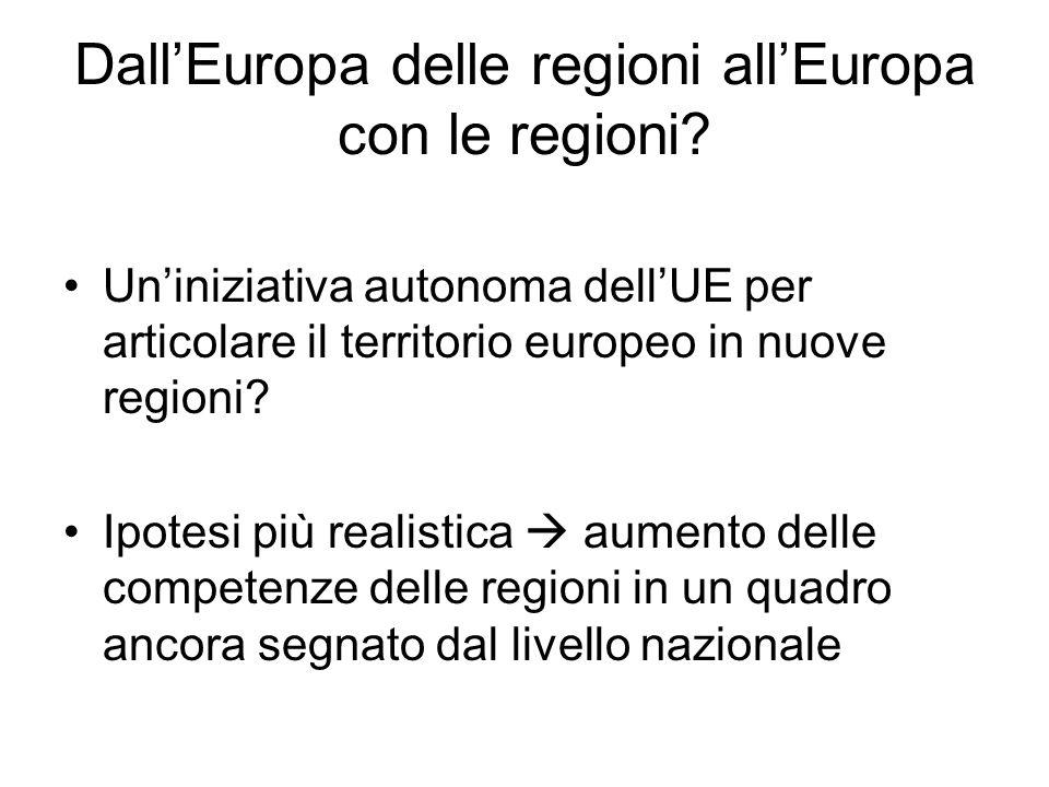 Dall'Europa delle regioni all'Europa con le regioni