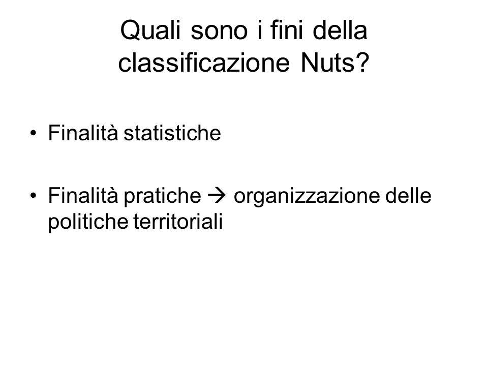 Quali sono i fini della classificazione Nuts