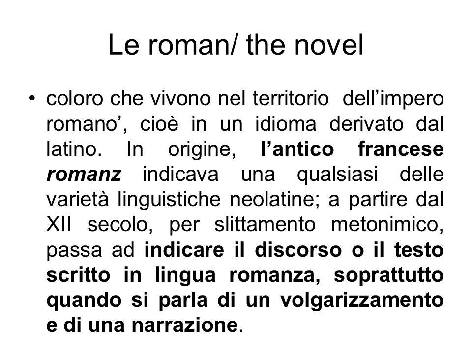 Le roman/ the novel