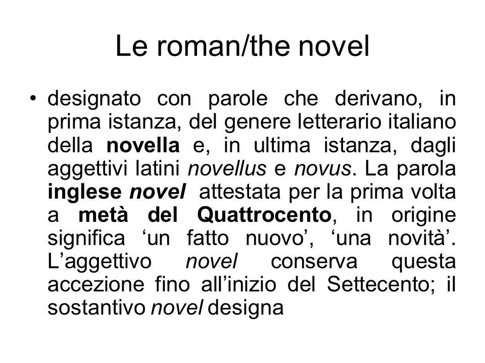 Le roman/the novel