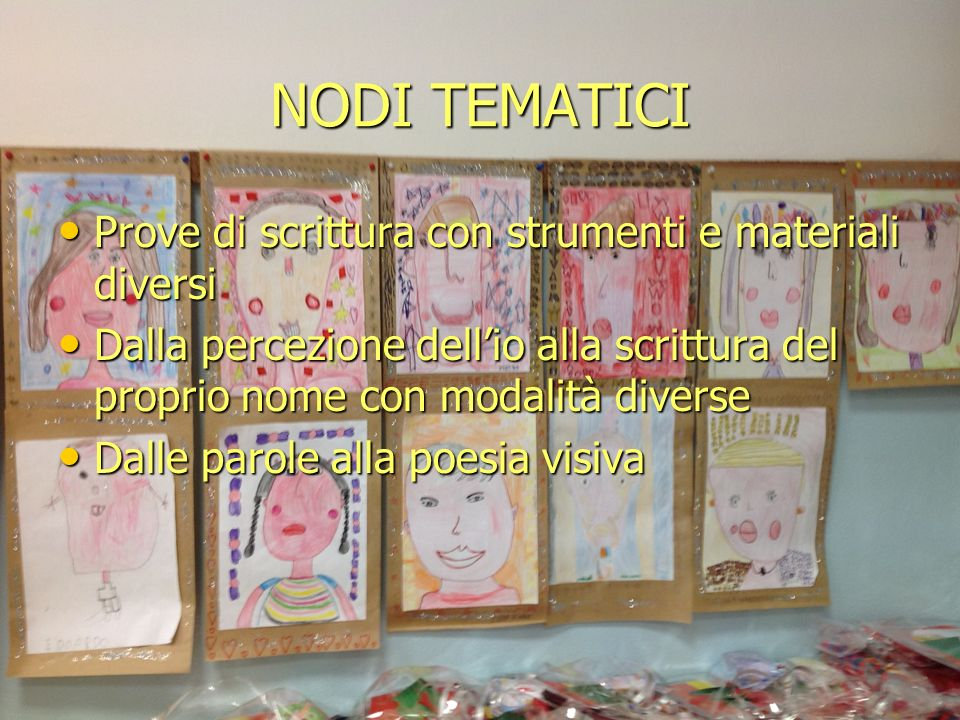 NODI TEMATICI Prove di scrittura con strumenti e materiali diversi