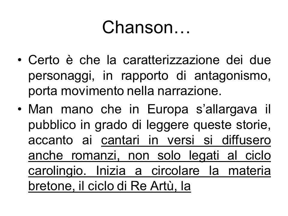 Chanson… Certo è che la caratterizzazione dei due personaggi, in rapporto di antagonismo, porta movimento nella narrazione.