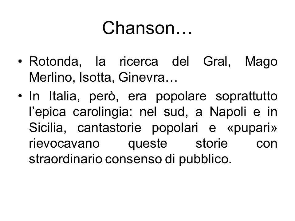 Chanson… Rotonda, la ricerca del Gral, Mago Merlino, Isotta, Ginevra…