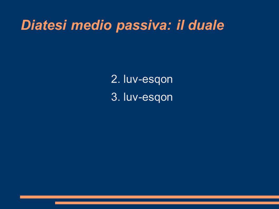 Diatesi medio passiva: il duale