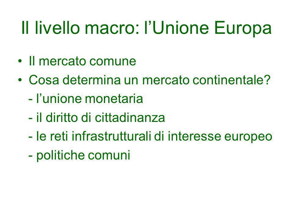 Il livello macro: l'Unione Europa