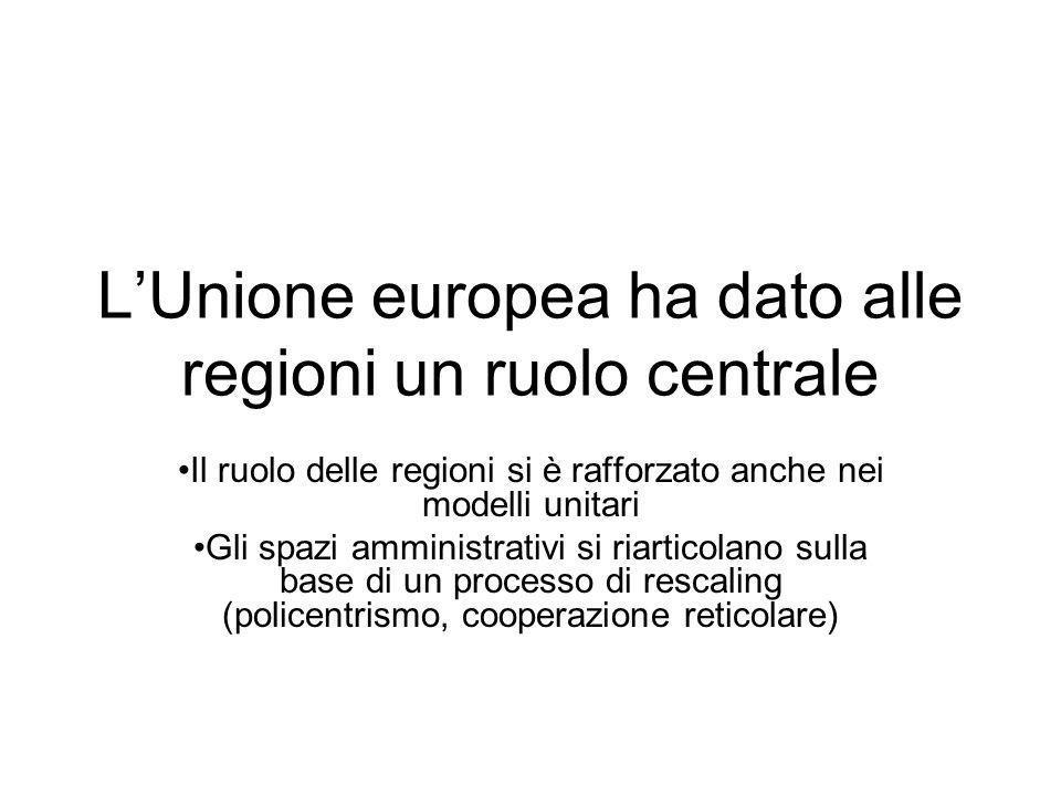 L'Unione europea ha dato alle regioni un ruolo centrale