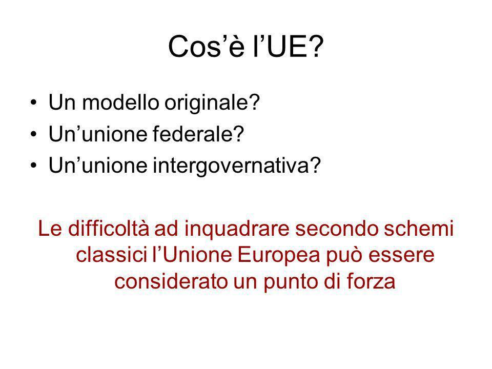 Cos'è l'UE Un modello originale Un'unione federale