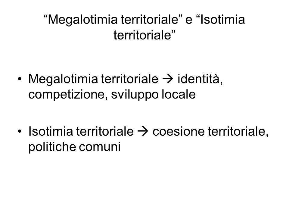 Megalotimia territoriale e Isotimia territoriale