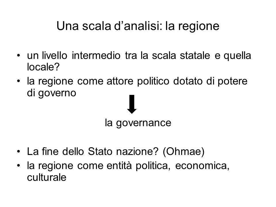 Una scala d'analisi: la regione