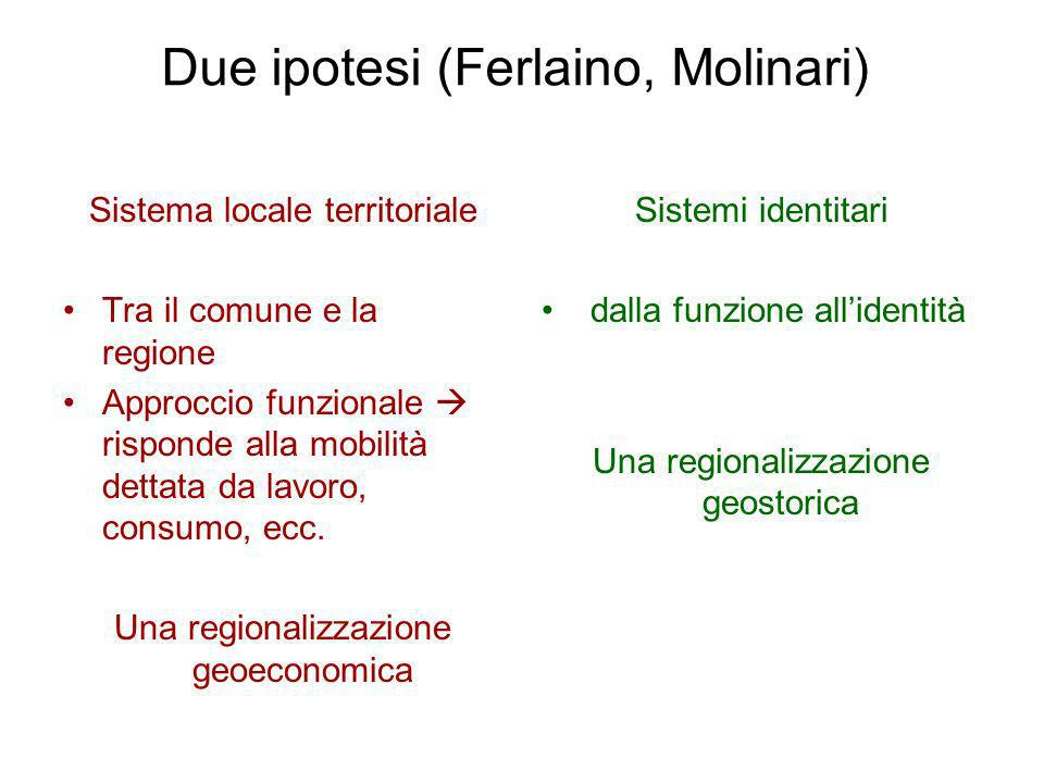 Due ipotesi (Ferlaino, Molinari)