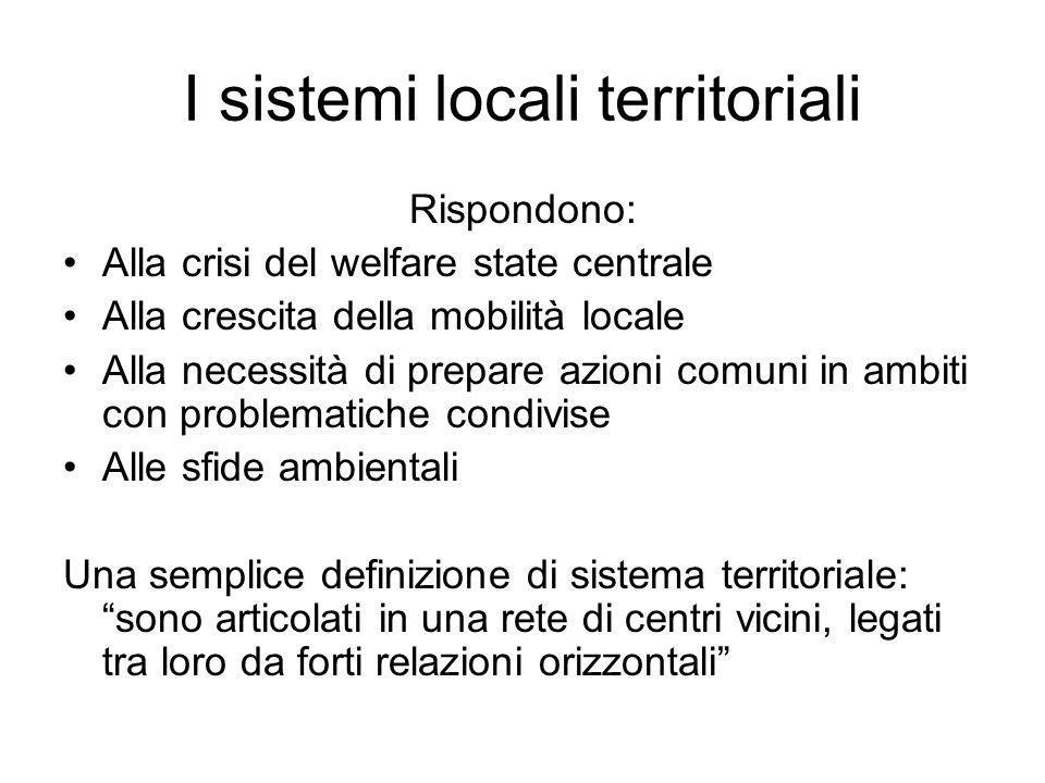 I sistemi locali territoriali