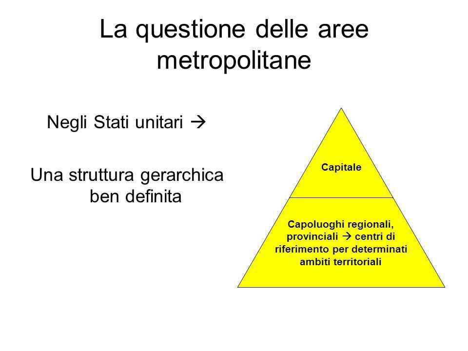 La questione delle aree metropolitane