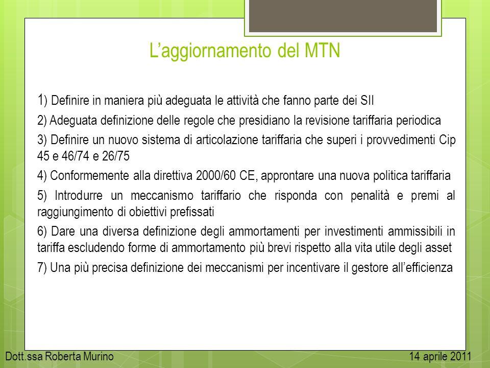 L'aggiornamento del MTN