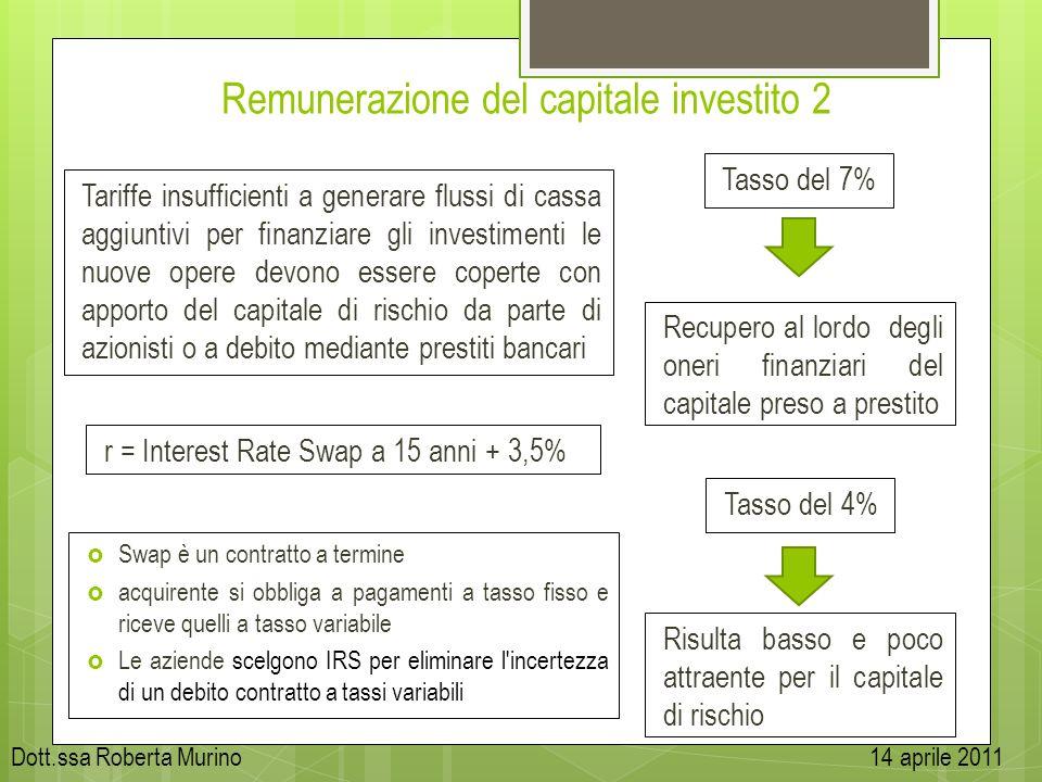 Remunerazione del capitale investito 2