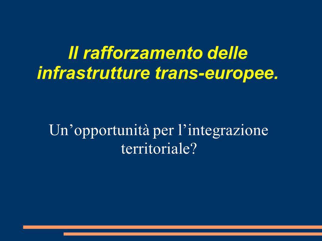 Il rafforzamento delle infrastrutture trans-europee.