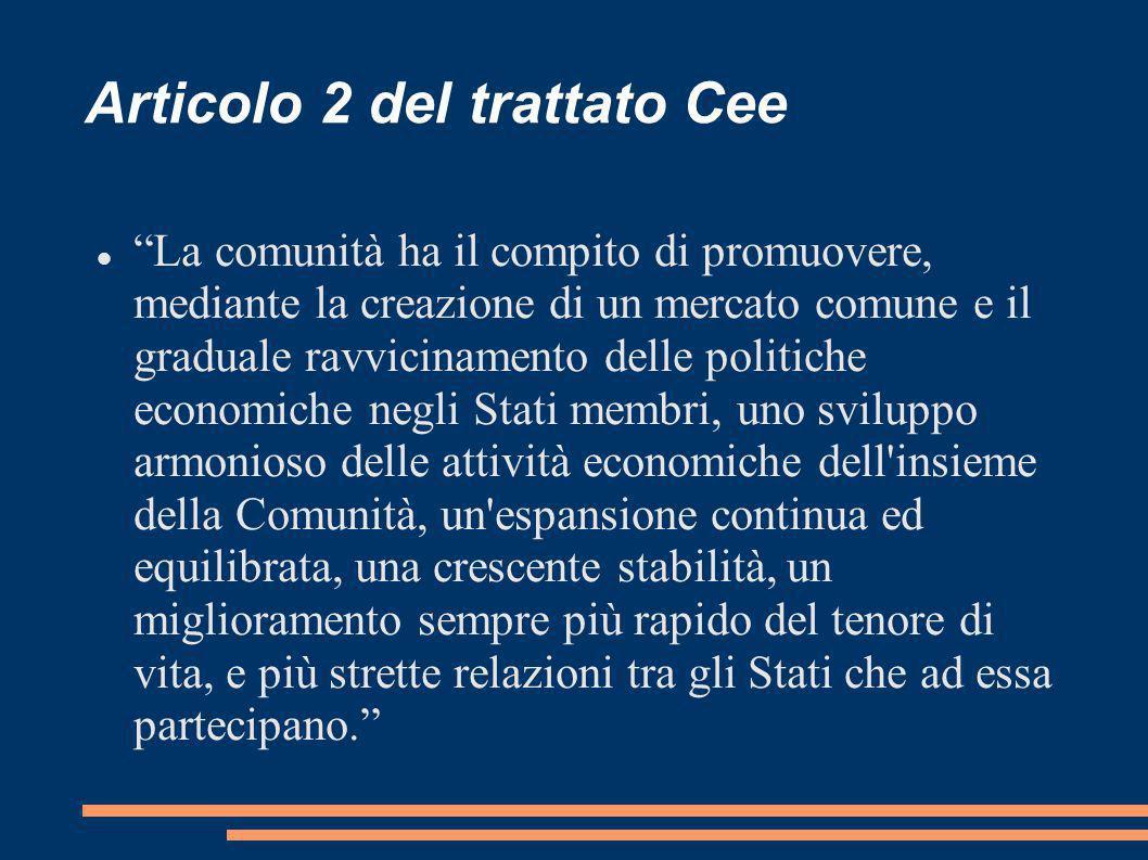 Articolo 2 del trattato Cee