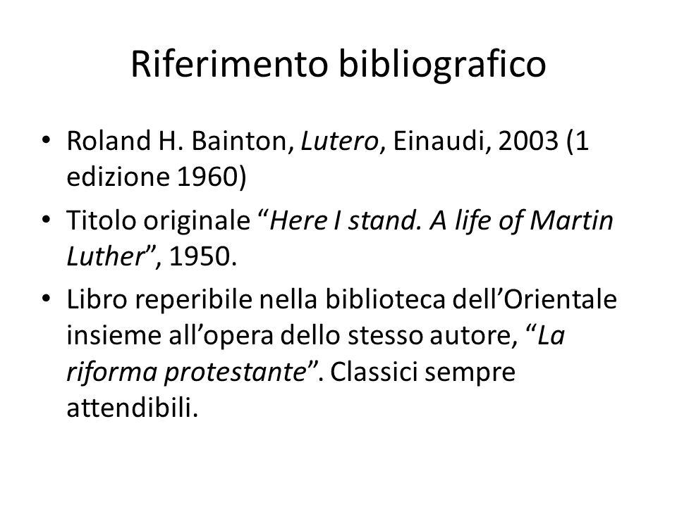 Riferimento bibliografico