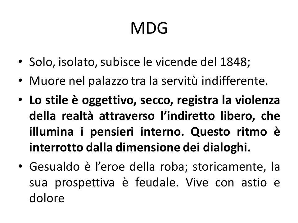 MDG Solo, isolato, subisce le vicende del 1848;