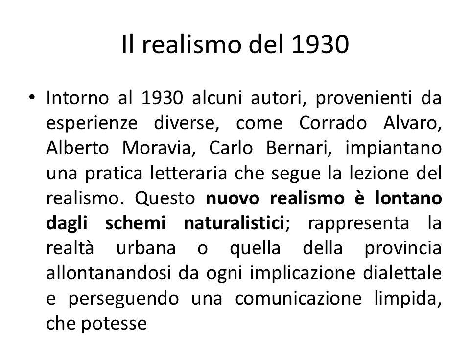 Il realismo del 1930