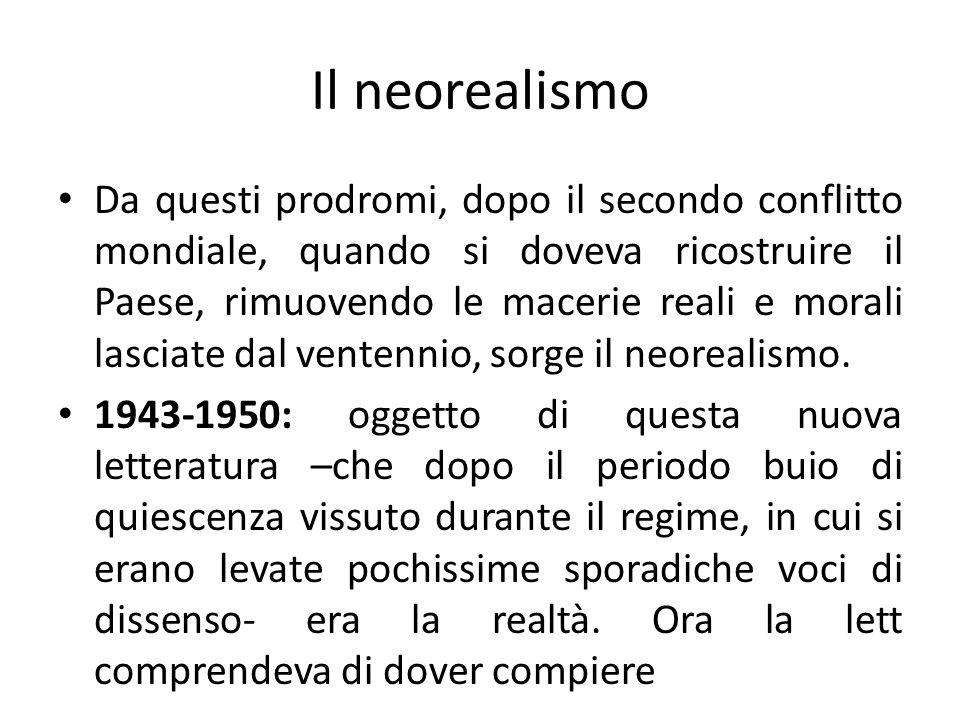 Il neorealismo
