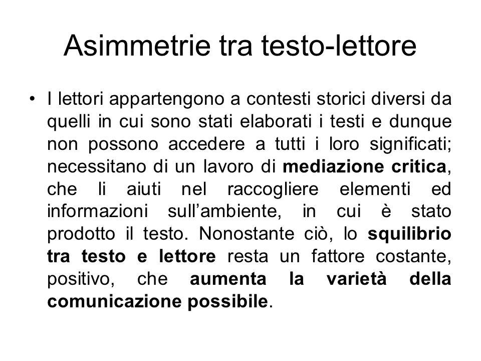 Asimmetrie tra testo-lettore