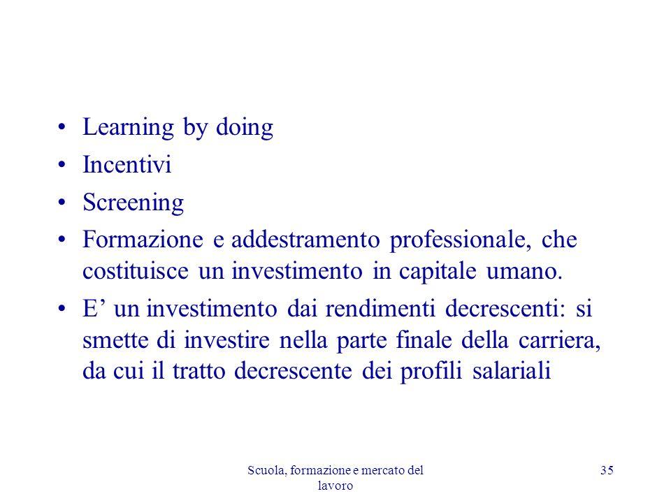 Scuola, formazione e mercato del lavoro