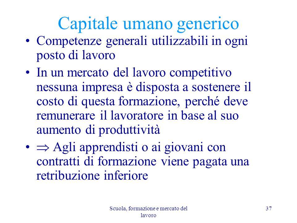 Capitale umano generico