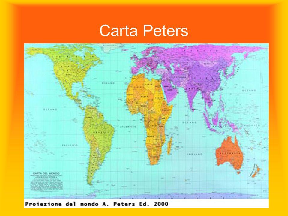 La mappa non è il territorio , ma una creazione, una scelta politica Carta Peters